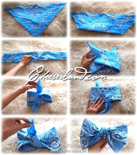 how to make a bandana how to make a bow out of a bandana trusper