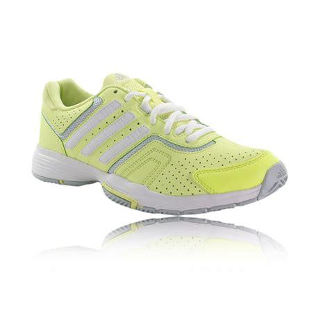 adidas barricade court womens yellow tennis sport shoes