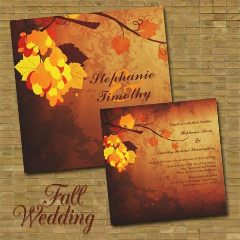 Fall Wedding Invitation Templates by 117 Best Chad And Wedding Invite Ideas Images On
