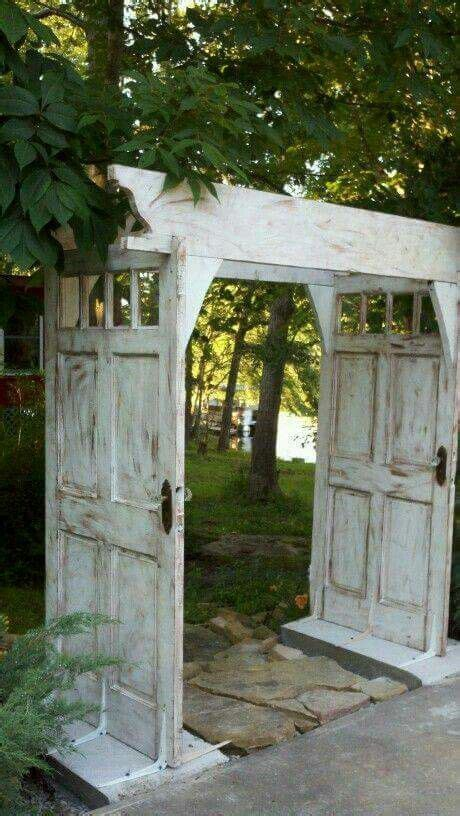 Wedding Arch Made From Doors by Repurposed Door Arbour Or Gate Into Garden So Pretty