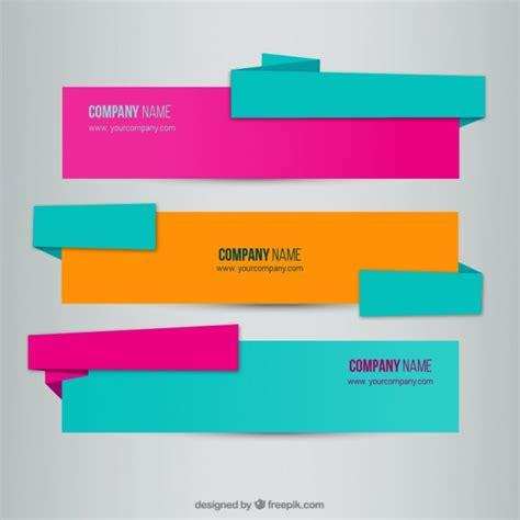 design banner freepik origami banners vector free download