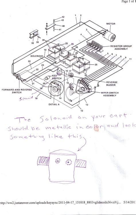 ez go golf cart 36 volt wiring diagram model get free