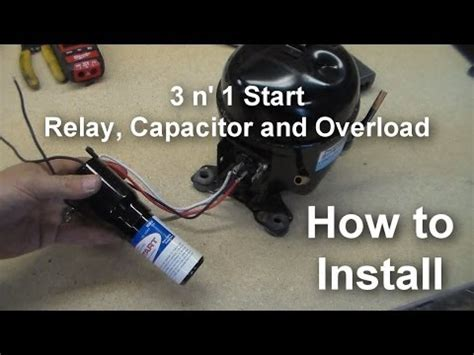 how to install a start capacitor kit replacing refrigerator capacitor relay with supco start kit