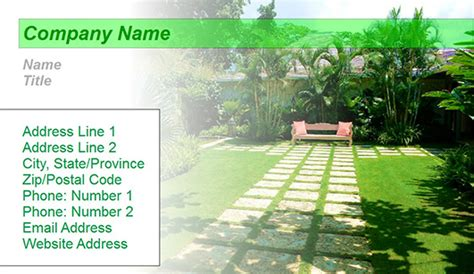 9 page card template landscape landscaping design business card templates juicybc