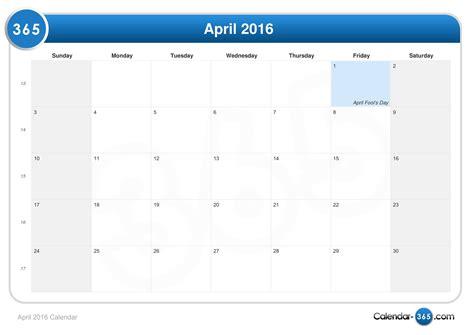 april 2016 calendar april 2016 calendar