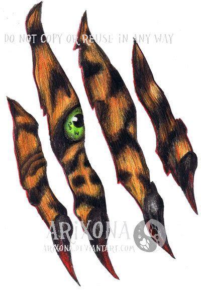 tiger scratch tattoo best 25 scratch ideas on rib