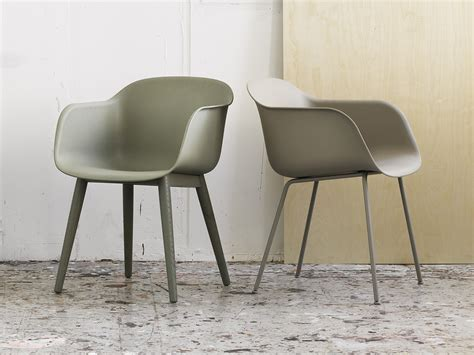 Upholstered Dining Armchair Buy The Muuto Fiber Armchair Wood Base At Nest Co Uk