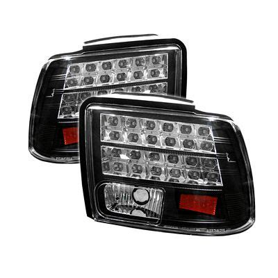 2004 mustang tail lights ford mustang 1999 2004 black led tail lights a103zugr109
