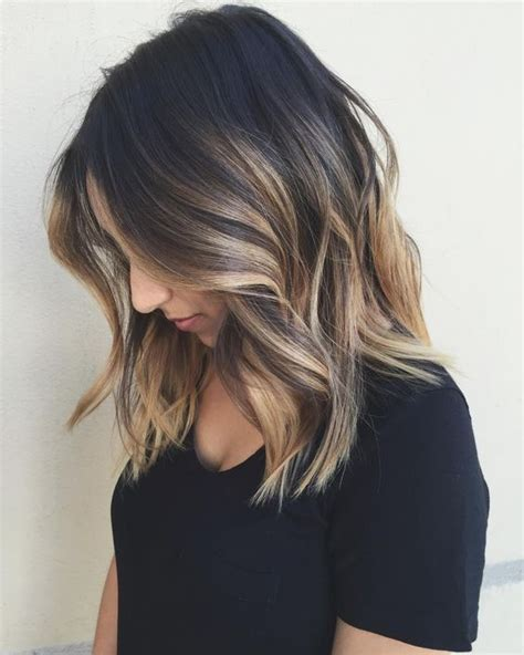balayage medium length hair pictures to pin on pinterest 25 best ideas about shoulder length balayage on pinterest