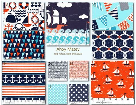 Make Your Own Crib Bedding Set Crib Bedding Design Your Own Crib Set Ahoy Matey White Blue And Aqua On Etsy 25 00