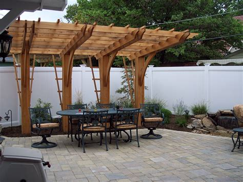 patio arbor plans cantilever pergola unilock paver patio pergolas