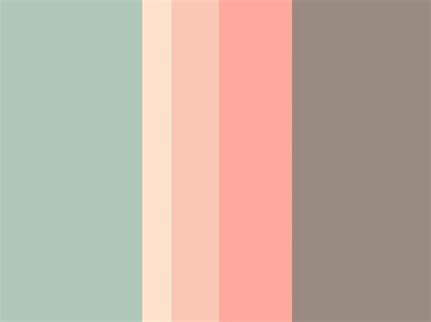 quot s p r i n g t i m e quot by paperflower brown coral green grey ivory orange pale pink