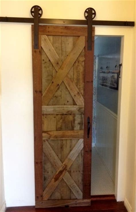sliding barn door made from pallet wood pallet projects