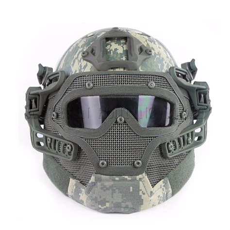 Helm Tactical Helm Airsofter Helm Outdor 1 aliexpress buy outdoor pj type fast tactical helmet integrated with mask and