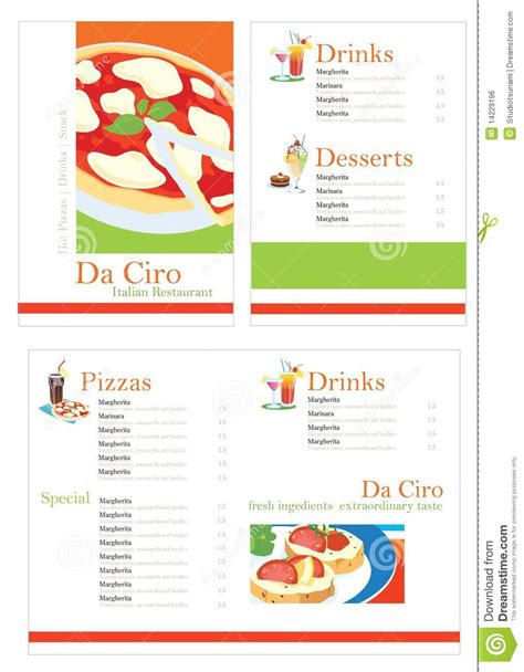 pizza template free pizza menu template royalty free stock image image 14229196
