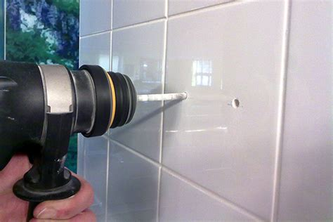 How To Drill Through Bathroom Tiles by How To Drill Through Ceramic Tile How To Drill A In