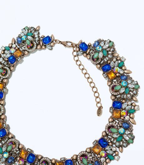 Kalung Zara Claris Necklace Grey zara rhinestone necklace in multicolor only one lyst