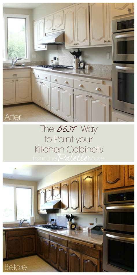 Repainting Kitchen Cabinets The Best Way To Paint Kitchen Cabinets The Palette Muse
