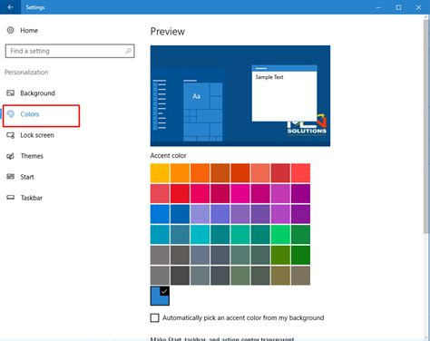 how to change taskbar color how to change the start menu and taskbar color in windows 10