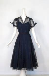 1940s dresses vintage 1940s dress navy organdy dress 40s dress m l beautiful sleeve and bows