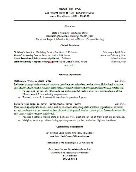 New Graduate Nursing Resume by Top 7 Resume Hints For New Grad Nurses New Grad