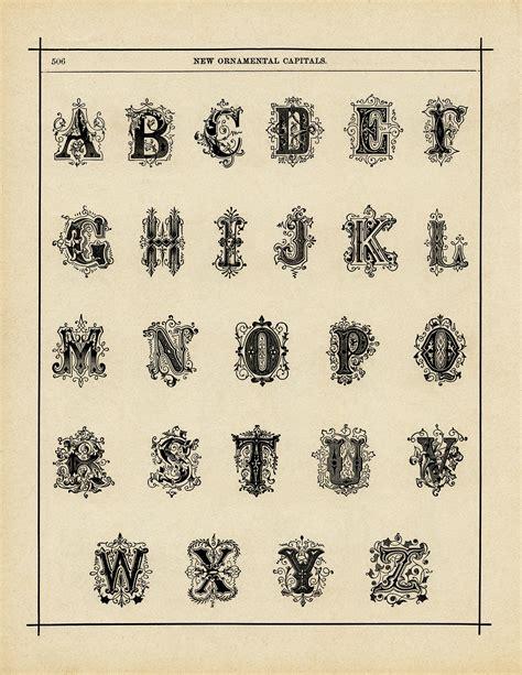 printable victorian letters ornamental alphabets free vintage graphics old design