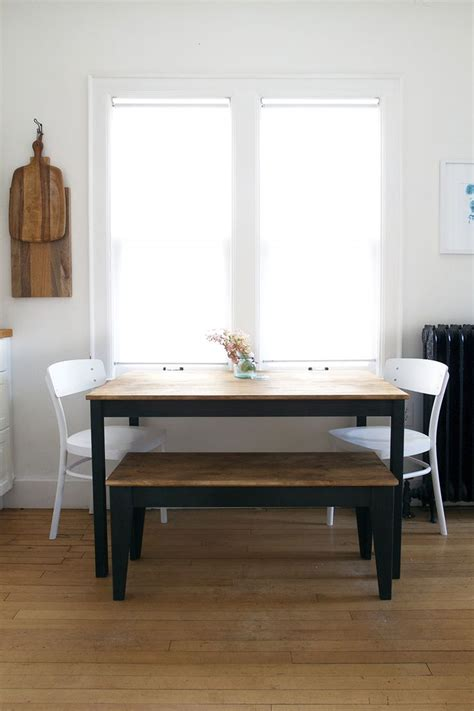 ingo ikea hack table and bench makeover using amy howard at home paints