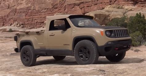 Jeep Truck Concept The Fast Truck Drives The Jeep Comanche Diesel Mini