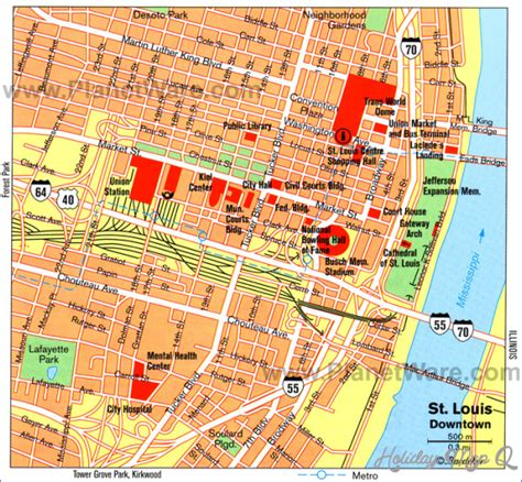 judgemental map of st louis st louis map tourist attractions holidaymapq