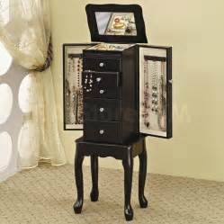 sale 207 00 style jewelry armoire in black