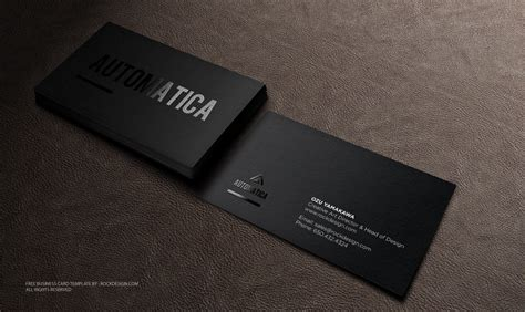 free buisness card templates black business card template free design