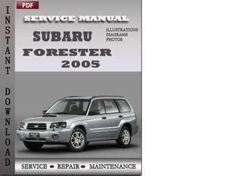 subaru forester 2005 factory service repair manual download downl