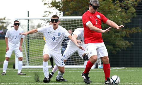 Blind Soccer s blind footballers aiming for the top after fa unveils new pitch sport the guardian