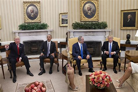 obama s oval office vs trumps see the changes donald trump made to the oval office aol
