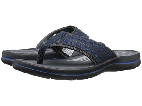 rockport sandals mens rockport get your kicks sandals in blue for lyst
