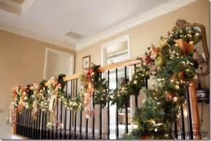 stair christmas garland princess decor