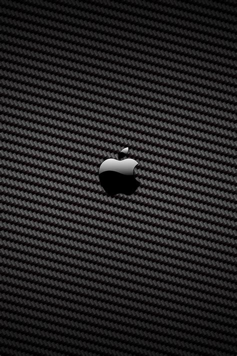 Iphone / Mobile Apple Logo Carbon i phone new wallpaper