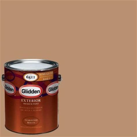 glidden premium 1 gal hdgo38d light autumn brown semi gloss exterior paint hdgo38dpx 01s