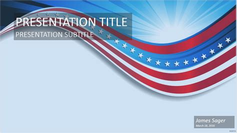 Free Patriotic Wave Powerpoint 45007 Sagefox Powerpoint Templates Patriotic Powerpoint Templates Free