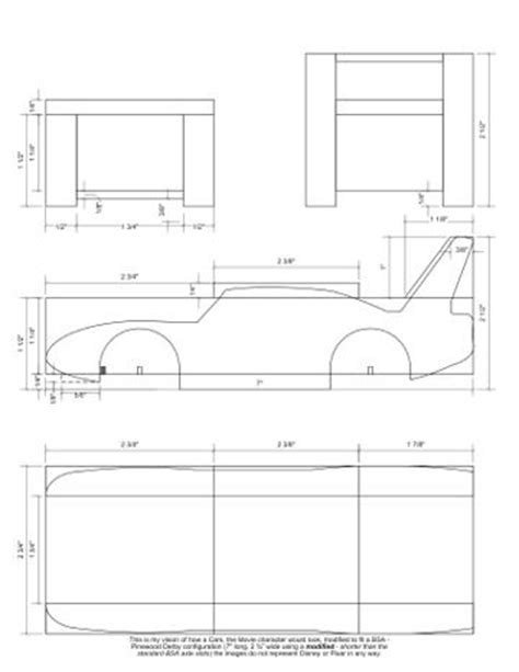 kub car templates the king cars trucks pinewood pinewood
