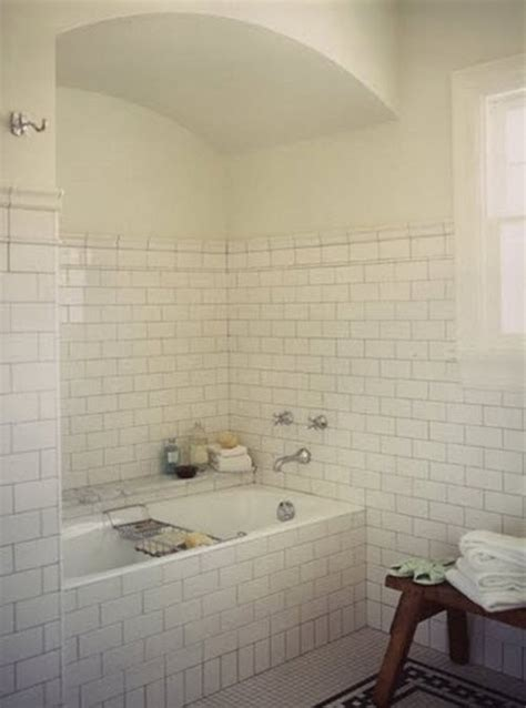 white subway tile bathroom designs 29 white subway tile tub surround ideas and pictures