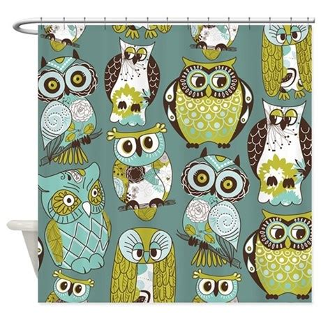 owl shower curtain owls shower curtain by bestshowercurtains