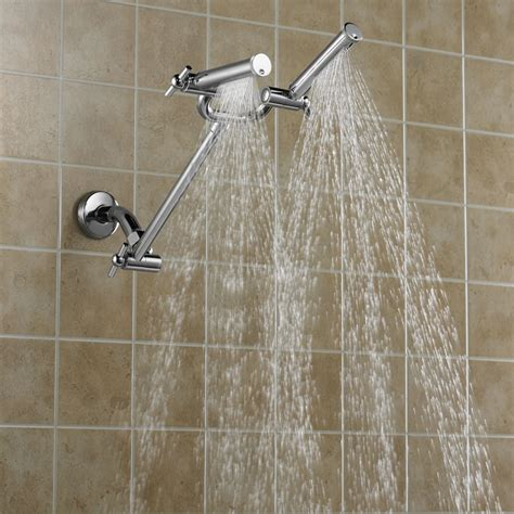 two shower heads dual shower shower www imgkid the image kid