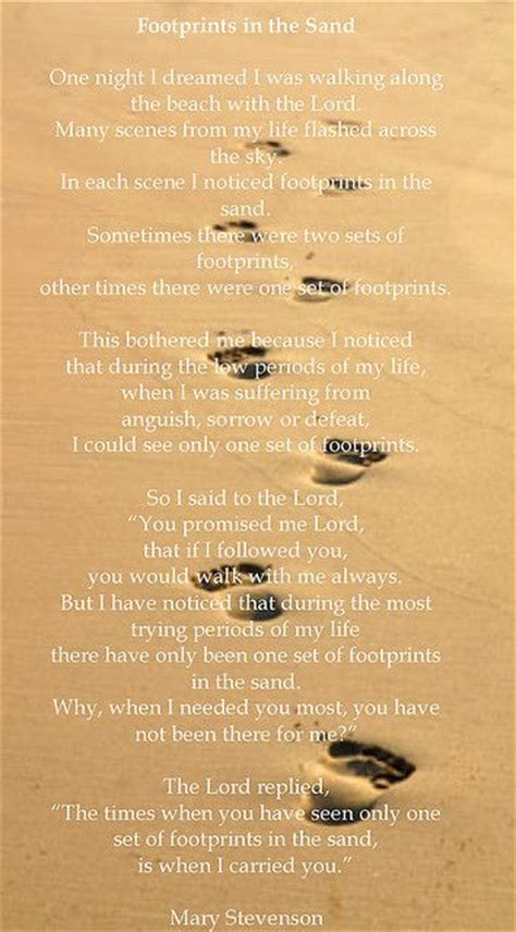 printable version of footprints in the sand poem 1000 images about places to visit on pinterest sand