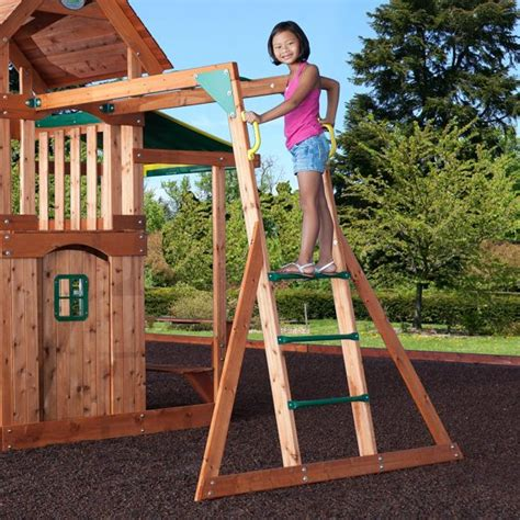 saratoga cedar swing set backyard discovery saratoga cedar swing set