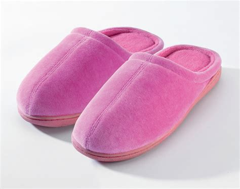 memory foam house shoes closed toe terry slippers with memory foam nature s sleep