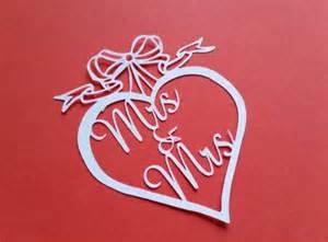 wedding papercut template wedding papercut templates mrs mrs