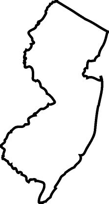 New Jersey State Map Outline by Illinois State Outline Clipart Best