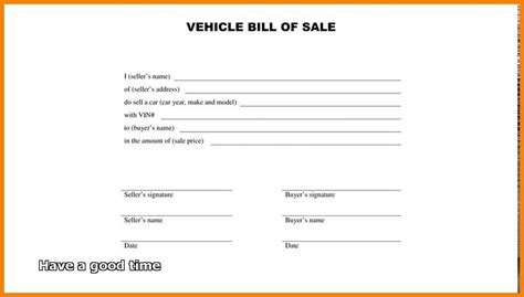 Auto Bill Of Sale Template 2018 World Of Template Format Vehicle Templates 2018