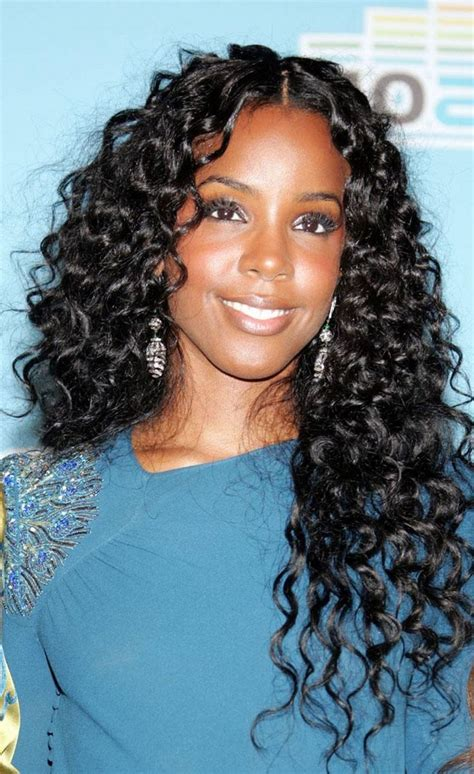wavy sew in hairstyles for black women 63 best images about curly weave on pinterest
